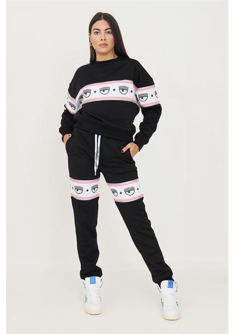 Pantaloni donna nero chiara ferragni casual con banda logo CHIARA FERRAGNI   Pantaloni   71CBAF00CFC1F899
