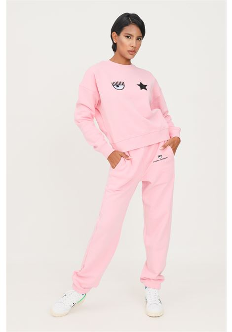 Pink women's trousers by chiara ferragni with elastic waistband CHIARA FERRAGNI | Pants | 71CBAT09CFC0T439