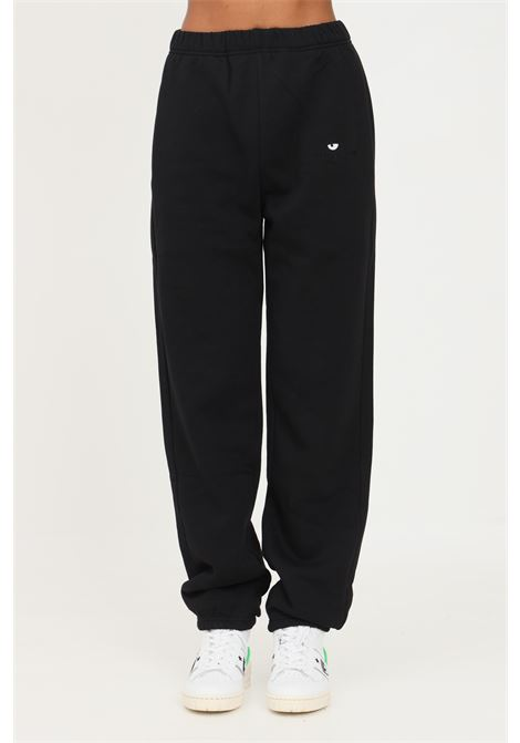 Black women's trousers by chiara ferragni with elastic waistband CHIARA FERRAGNI | Pants | 71CBAT09CFC0T899