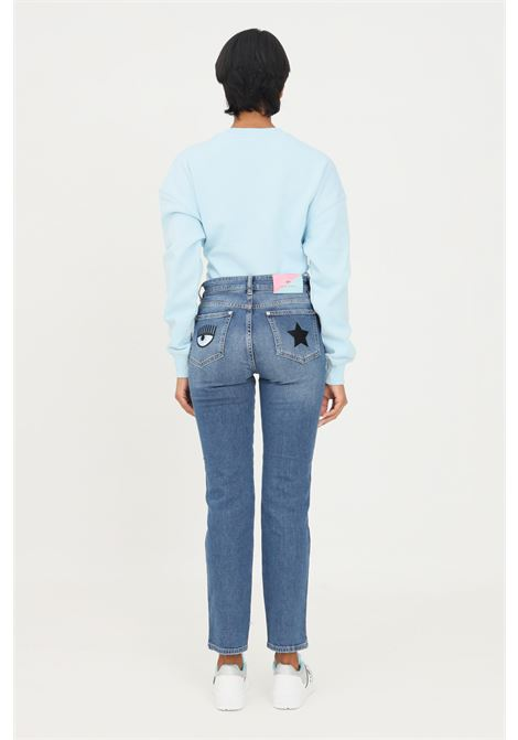Jeans donna chiara ferragni a vita alta CHIARA FERRAGNI | Jeans | 71CBB5R3CDW13904