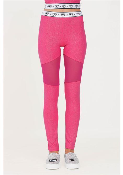 Leggings donna fucsia chiara ferragni con glitter CHIARA FERRAGNI | Leggings | 71CBC102J0017446