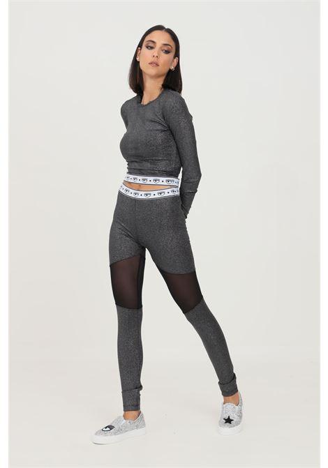 Leggings donna grigio chiara ferragni con glitter CHIARA FERRAGNI | Leggings | 71CBC102J0017899