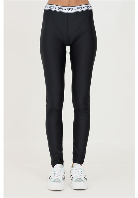 Black leggings with glitter by chiara ferragni slim model CHIARA FERRAGNI | Leggings | 71CBC103N0008899