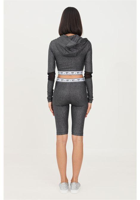 Black women's cyclist by chiara ferragni casual model with glitter CHIARA FERRAGNI | Shorts | 71CBD190J0017899
