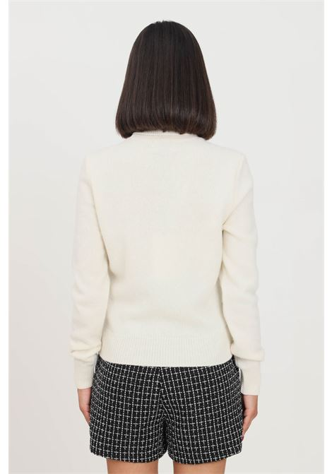 Cream women's sweater by chiara ferragni, high neck CHIARA FERRAGNI | Knitwear | 71CBFM02CMM00008