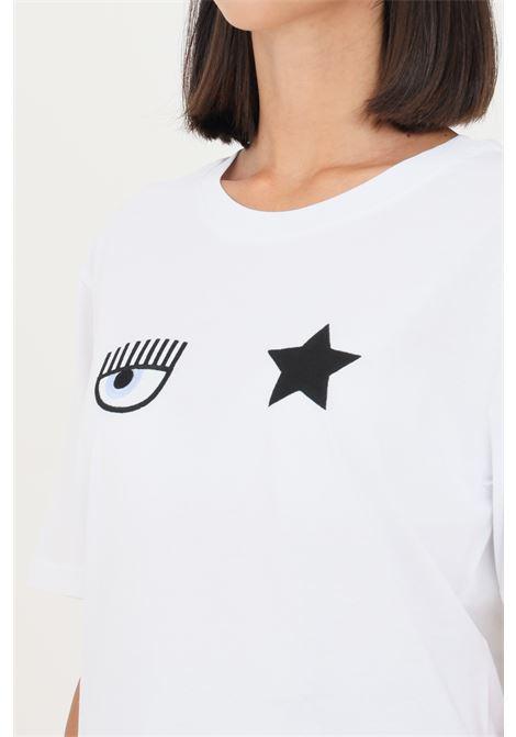 T-shirt donna bianco chiara ferragni a manica corta CHIARA FERRAGNI   T-shirt   71CBHT01CJC0T003