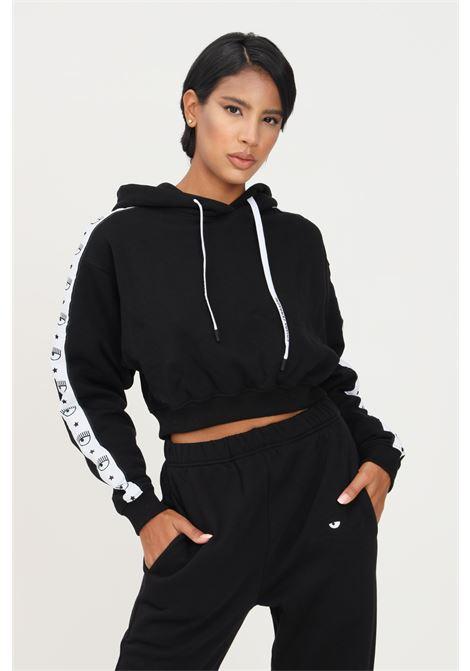 Black women's logomania hoodie by chiara ferragni CHIARA FERRAGNI | Sweatshirt | 71CBIF04CFC0F899