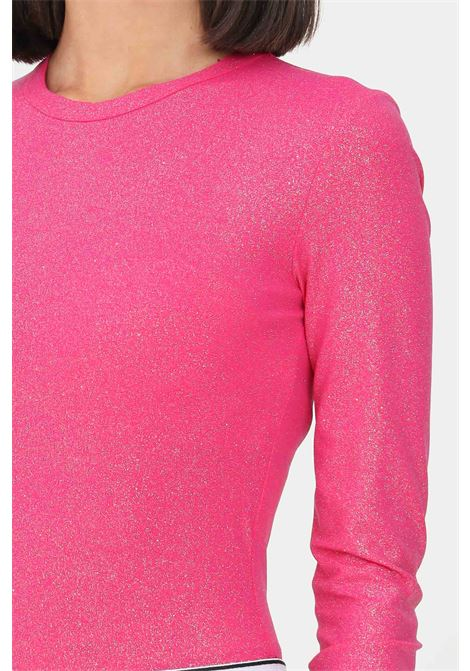 T-shirt donna fucsia chiara ferragni manica lunga con glitter CHIARA FERRAGNI | T-shirt | 71CBM268J0017446
