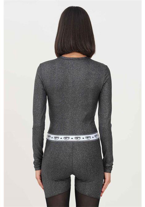 Grey women's t-shirt by chiara ferragni with glitter, long sleeve CHIARA FERRAGNI | T-shirt | 71CBM268J0017899