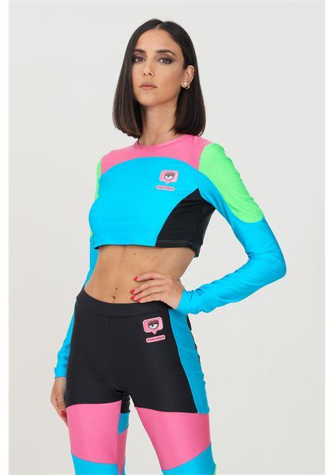 Multicolor top by chiara ferragni with long sleeves CHIARA FERRAGNI | Top | 71CBM270N0008899