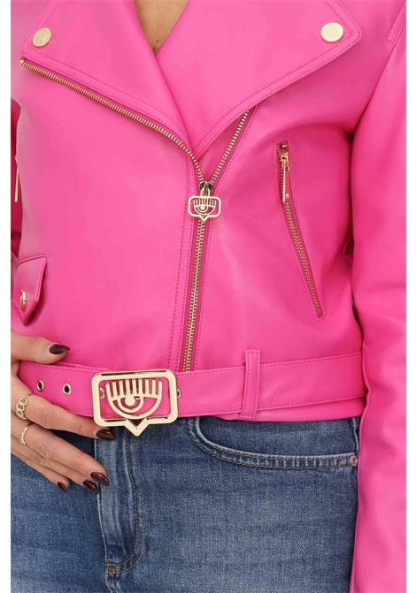 Giacca da donna fucsia chiara ferragni con cintura in vita CHIARA FERRAGNI   Giubbotti   71CBS409N0039446