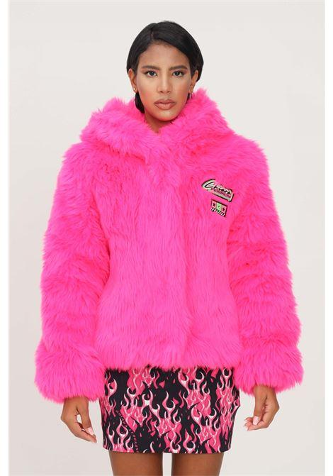 Fucsia women's jacket by chiara ferragni in eco fur CHIARA FERRAGNI | Jacket | 71CBS420U0005437