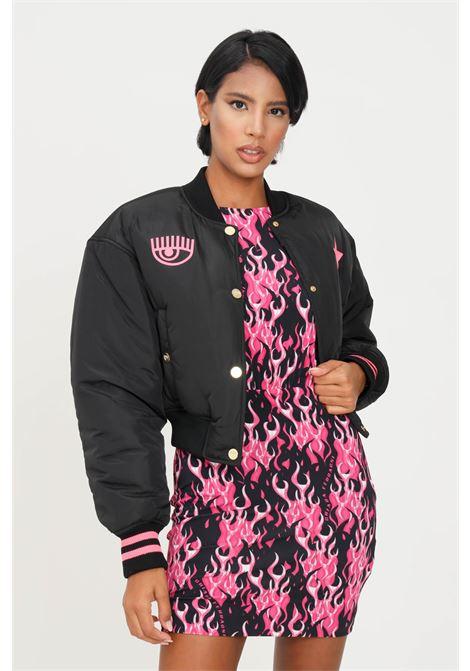 Black women's eye star jacket by chiara ferragni with slippers CHIARA FERRAGNI | Jacket | 71CBS428CQS19899