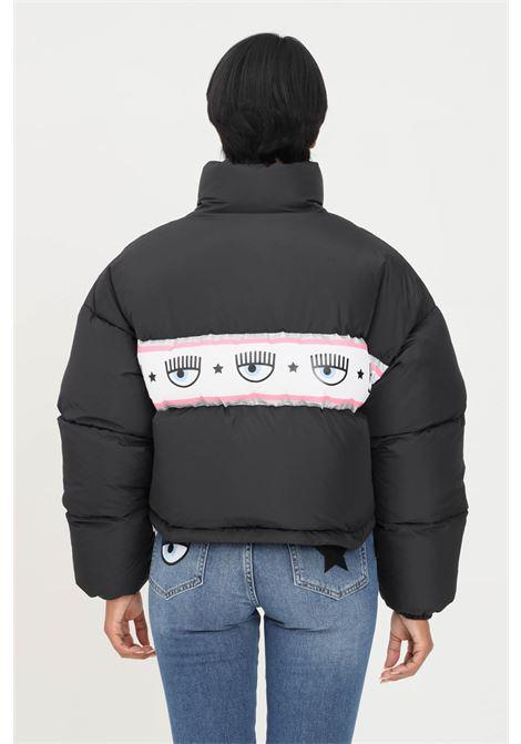 Black women's jacket by chiara ferragni with logo band CHIARA FERRAGNI | Jacket | 71CBU470CQS17899