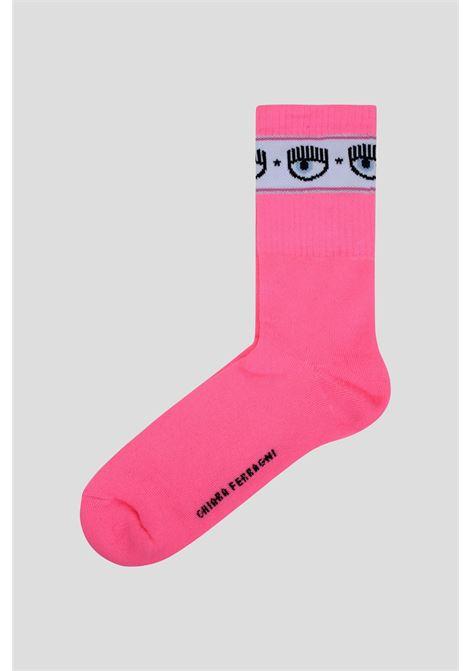 Pink women's socks by chiara ferragni wth logo band CHIARA FERRAGNI | Socks | 71SB0J02ZG044437