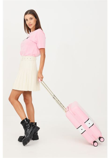 Pink women's 'Logomania' trolley by chiara ferragni with 'Eye Like' print  CHIARA FERRAGNI |  | 71SB0LA1ZS143439