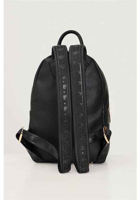 Black women's backpack by chiara ferragni with logo application CHIARA FERRAGNI | Backpack | 71SB4BC3ZS135899