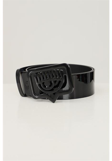 Black women's belt by chiara ferragni  CHIARA FERRAGNI | Belt | 71SB6F03ZS133899