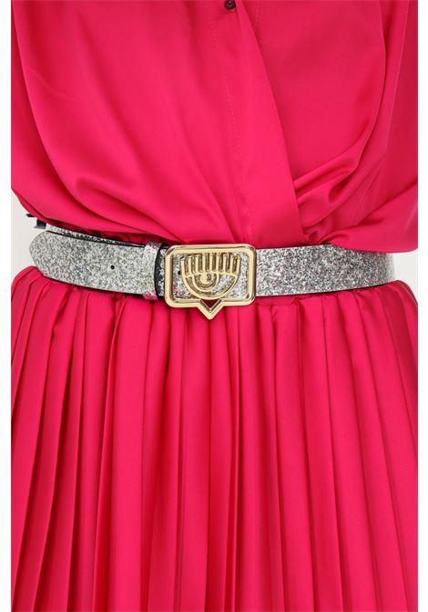 Cintura donna glitter silver chiara ferragni con fibbia oro CHIARA FERRAGNI   Cinture   71SB6F04ZS134900