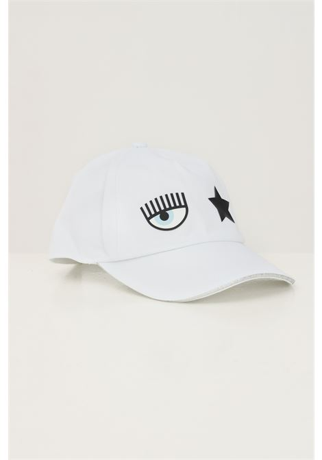 White women's cap by chiara ferragni CHIARA FERRAGNI | Hat | 71SBZK13ZG036003