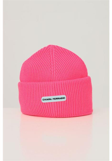 Fluo pink women's hat by chiara ferragni with application logo on the front CHIARA FERRAGNI | Hat | 71SBZK35ZG038437