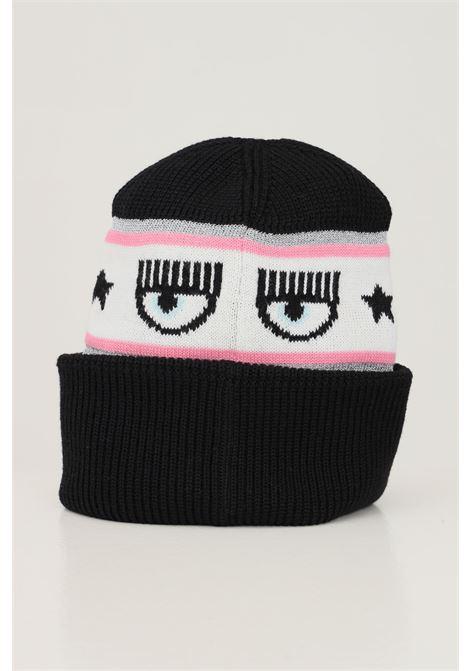 Black women's hat by chiara ferragni with logo band CHIARA FERRAGNI | Hat | 71SBZK40ZG039LS1