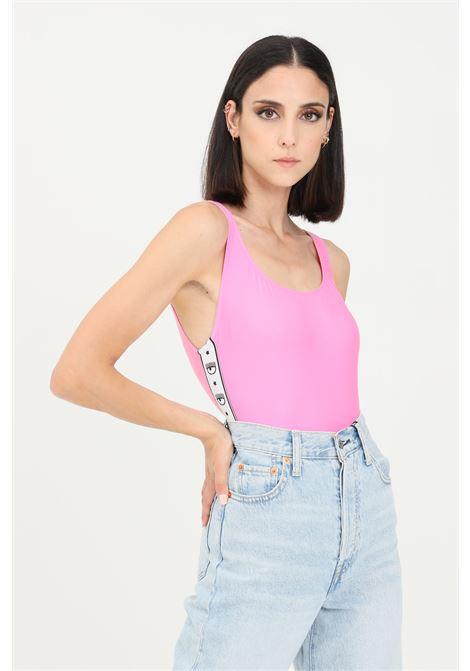 Body costume donna rosa chiara ferragni con bande logate CHIARA FERRAGNI | Beachwear | A811052110246