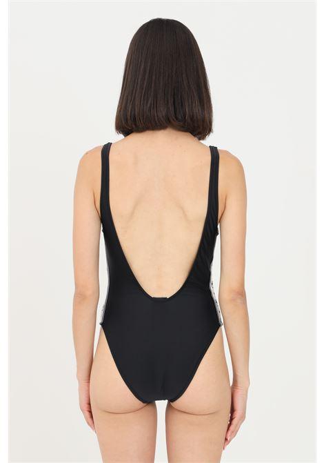 Body costume donna nero chiara ferragni con bande logate CHIARA FERRAGNI | Beachwear | A811052110555
