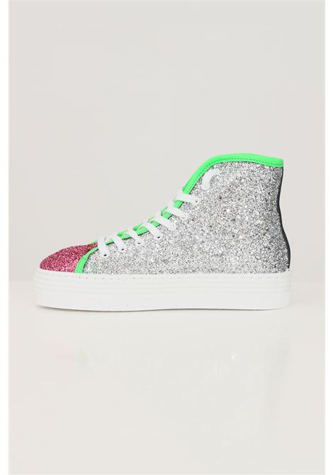Multicolor women's high eyelike glitter sneakers by chiara ferragni CHIARA FERRAGNI | Sneakers | CF2845010
