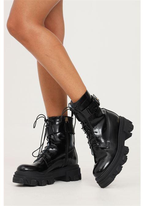 Anfibi boot lace-up eyelike black eco da donna nero by chiara ferragni CHIARA FERRAGNI | Stivaletti | CF2856001