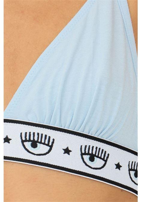 Light blue bralette by chiara ferragni with elastic logo waistband CHIARA FERRAGNI | Bralette | V460232240305