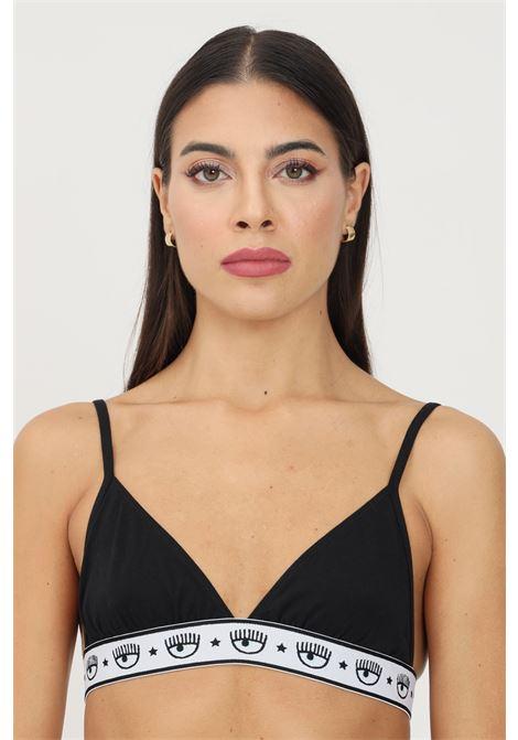 Black bralette by chiara ferragni with elastic logo waistband CHIARA FERRAGNI | Bralette | V460232240555