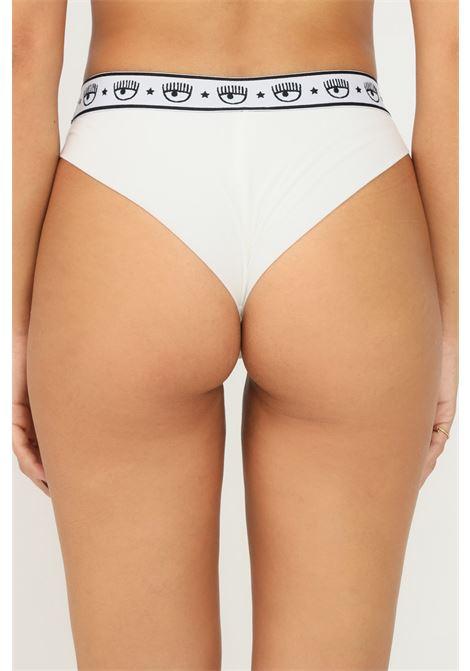 White women's brief by chiara ferragni with elastic logo waistband, pack of 2 pieces CHIARA FERRAGNI | Slip | V47043224001