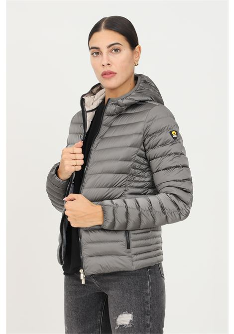Grey women's down jacket by ciesse with front zip and hood CIESSE | Jacket | 193CFWJ02098-N7A10D9639XP