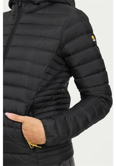 Black women's down jacket by ciesse with front zip and hood CIESSE | Jacket | 193CFWJ02098-P0210D2019XP