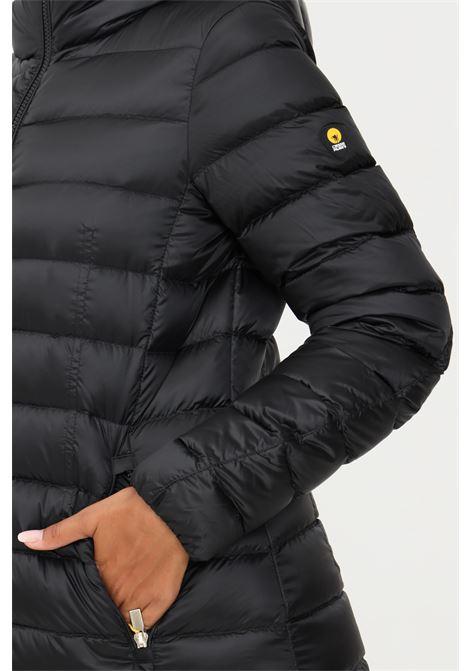 Black women's jacket by ciesse with hood CIESSE | Jacket | 203CFWC02362-N1C10D201XXP