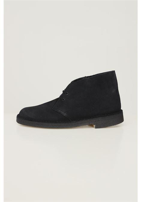 Black men's desert boot black side shoes by clarks CLARKS | Party Shoes | 1382270001