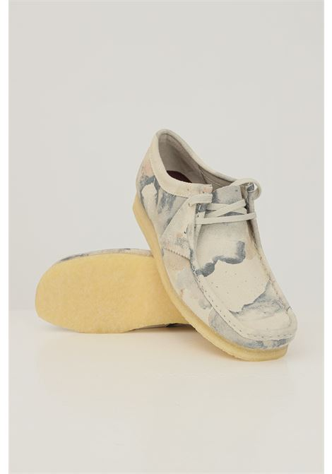 Men's wallabee off white camoflage shoes by clarks CLARKS | Party Shoes | 1485900001