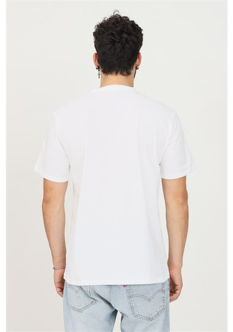 White men's t-shirt by converse with logo print on the front, short sleeve CONVERSE | T-shirt | 10007887-A04.