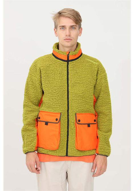 Green men's bomber jacket by converse, wool effect CONVERSE | Jacket | 10021937-A03.