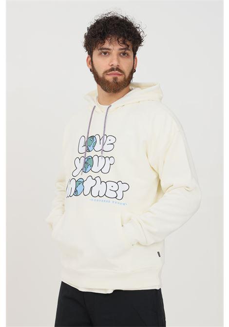 Cream men's hoodie by converse CONVERSE | Sweatshirt | 10021997-A02.