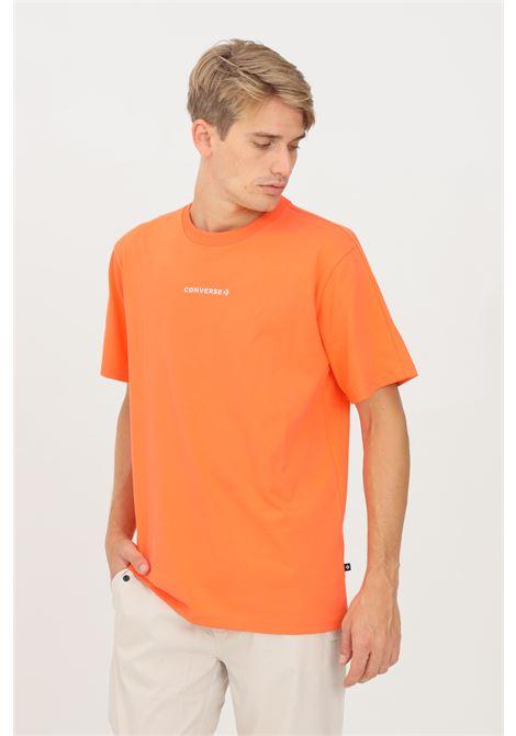 Orange men's t-shirt by converse, short sleeve CONVERSE | T-shirt | 10022029-A05.
