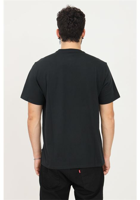 Black men's t-shirt by converse with maxi logo on the front, short sleeve CONVERSE | T-shirt | 10023301-A02.