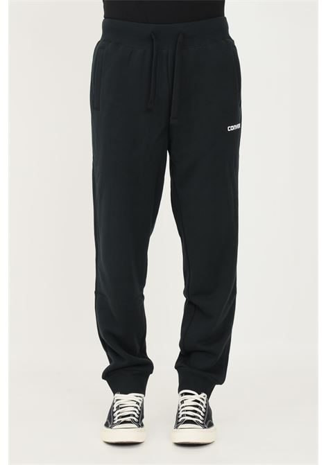 Black men's trousers by converse with elastic waistband and laces CONVERSE | Pants | 10023306-A02.