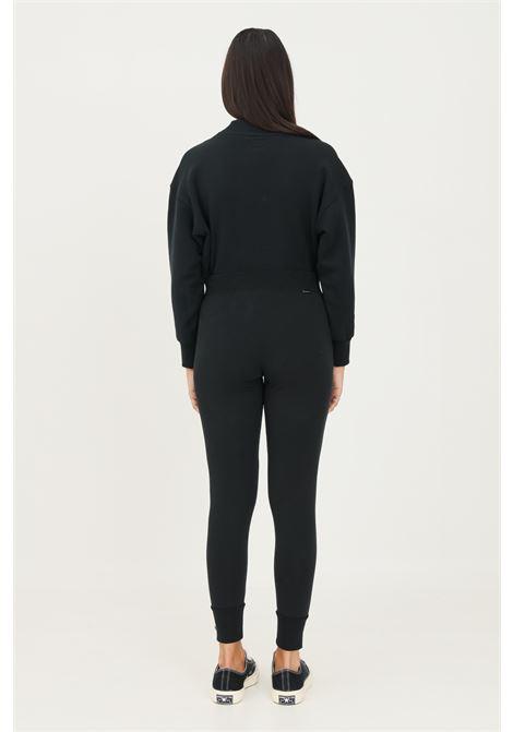 Pantaloni donna nero converse casual con elastico in vita slim fit CONVERSE | Pantaloni | 10023332-A01.