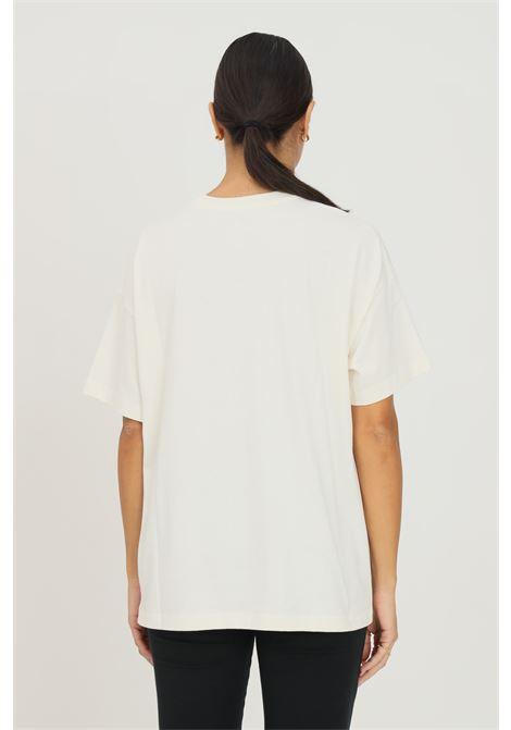 T-shirt donna panna converse a manica corta con stampa frontale CONVERSE | T-shirt | 10023338-A01.