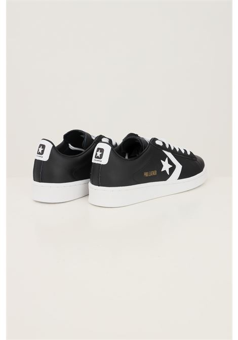 Black men's pro leather low top shoe sneakers by converse  CONVERSE | Sneakers | 167238C.