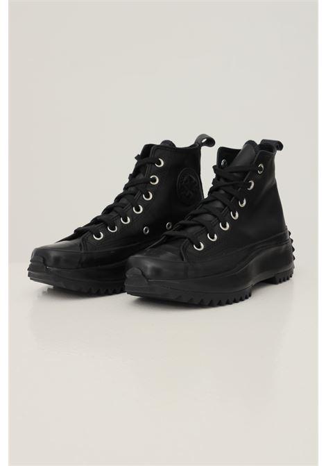 Sneakers run star hike hi donna nero converse in ecopelle CONVERSE | Sneakers | 170548C206