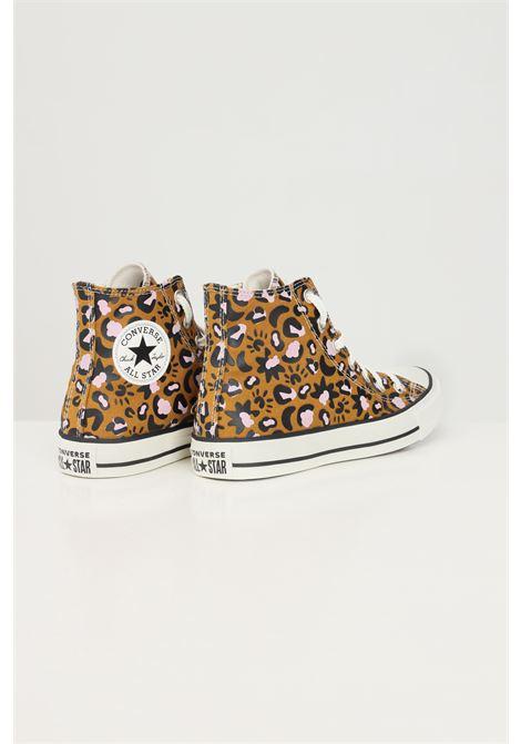 Sneakers ctas hi donna marrone converse con stampa maculata CONVERSE | Sneakers | 572432C.
