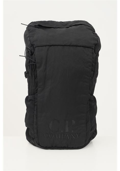 Black men's backpack by cp company with embroidered logo C.P. COMPANY | Backpack | 11CMAC115A-005269G999